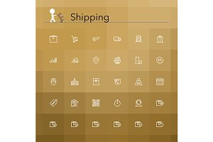 Shipping Line Icons