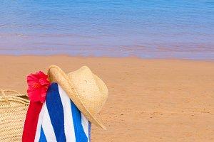 Sandy summer beach