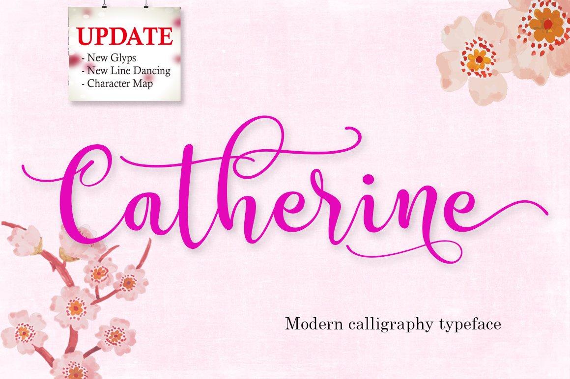 Catherine script fonts creative market kristyandbryce Choice Image