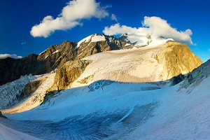 Snow mountain landscape