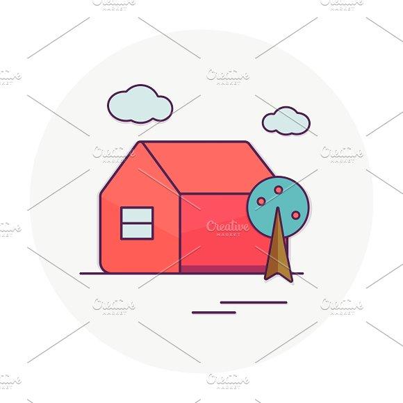 Home. Tree. - Illustrations