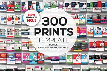300+ Print Templates Bundle