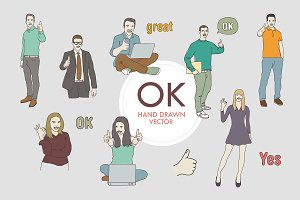 People OK Vector