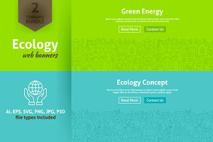 Ecology Green Energy Line Web Banner