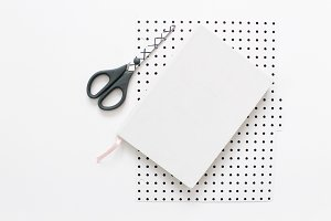 Notebook & Polka Dots- Modern Stock