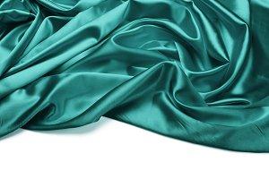 turquoise silk fabric background