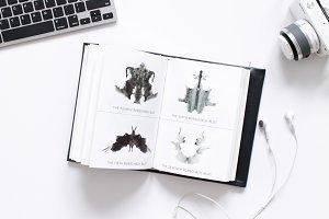 Desk Scene- Modern Stock Image