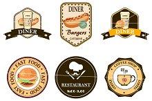 coffe, diner, restaurant,logo.Vector