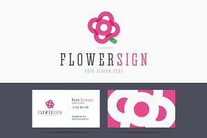 Flower logo and business card