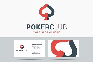 Poker club logo and business card