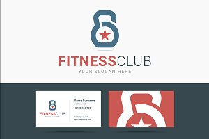 Fitness club logo and business card