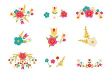 Country Floral Vector Designs