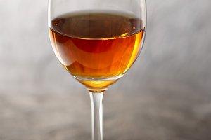 Glass of amontilliado sherry