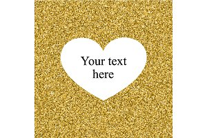 Shiny Golden background with heart