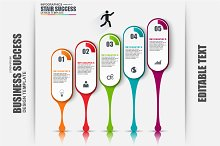 Business Stair Success Infographic