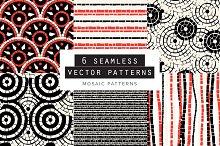 Mosaic Seamless Patterns Set of 6