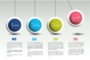 Pendulum infographic template banner