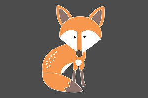 Little Fox Vector Graphic