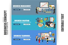 Flat Concept Business Strategy