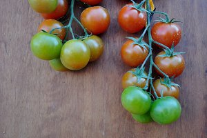 bunches cherry tomatoes
