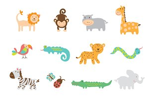 Vector Safari Animal Graphics