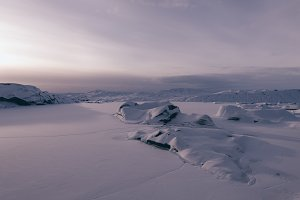 Winter Glacier Landscape of Iceland