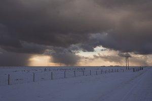 Vintage Winter Landscape