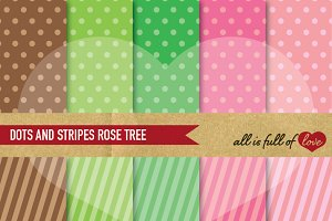 Rose Tree Background Patterns