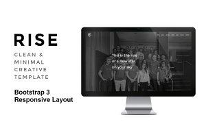RISE - Clean & Minimal Portfolio