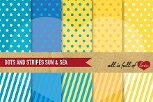 Yellow and Blue Background Patterns