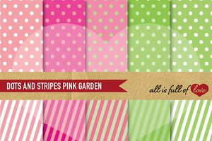 Spring Backgrounds Dots stripes