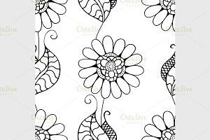 Monochrome Floral Pattern.