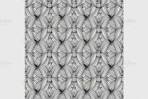 Abstract Black and White Pattern.