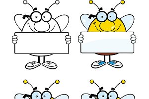 Bee Characters Collection - 4