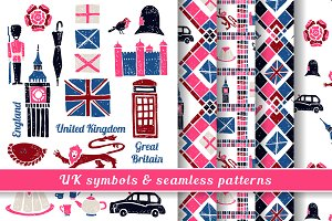 UK Symbols & Seamless Patterns