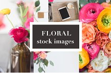 Floral Stock Photos   Tablet Mockup