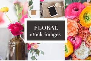 Floral Stock Photos | Tablet Mockup