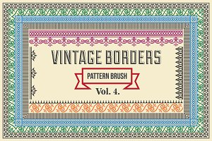 Vintage Borders Pattern Brushes 4
