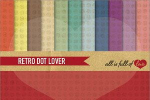 Vintage Dotted Background Paper