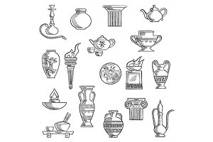 Containers and kitchenware icons