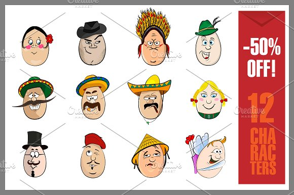 Cartoon Characters Faces