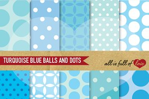 Sky Blue Dotted Background Patterns
