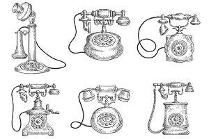 Vintage dial telephones
