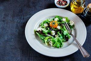 Colorful salad on plate