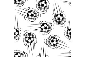 Football or soccer seamless pattern