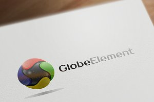 Globe Element 3D Logo Design