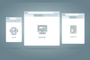 Browser Windows Responsive Web