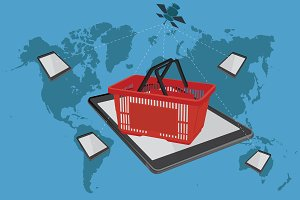 shopping basket, ecommerce, online