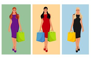 woman with shopping bag, fashion
