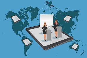 online conference, seminar, webinar